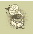 Grunge Gramophone vector image vector image