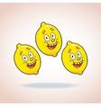 Happy cartoon lemons vector image