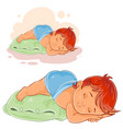 little baby in a diaper lies a booty on the vector image