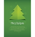 Merry Christmas postcard Nnew Year tree text vector image