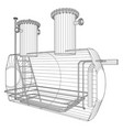 Oil and gas equipment industrial tank eps10 vector image