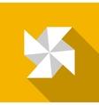 Paper windmill icon - vector image