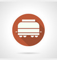 refrigerated rail car round icon vector image