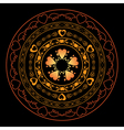 romantic round ornament for design - vector image