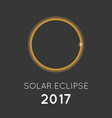 solar eclipse in august 2017 vector image