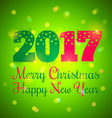 2017 and lights green vector image vector image