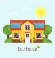 flat style concept of eco house vector image