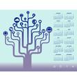 2014 icon tree Calendar vector image