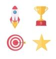 Success awards icons set vector image