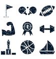Sport icons set grunge vector image