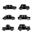 vintage car silhouette vector image