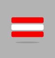 Austria flag Stylised Austrian flag of geometrical vector image