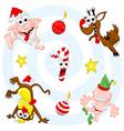 crazy christmas set vector image vector image