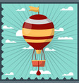 airballoon isolated in sky colorful card with vector image