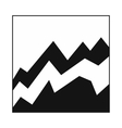 Business graph icon simple style vector image