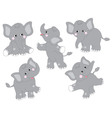 Elephants Set vector image