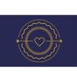 Hipster heart logo icon Royal love vector image