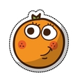 orange fruit character comic icon vector image