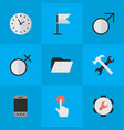set of simple design icons elements banner mobile vector image