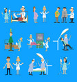 set on the theme of health vector image