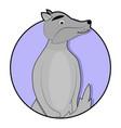 sticker cartoon wolf icon vector image