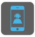 Smartphone Operator Contact Portrait Rounded vector image