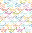 Glasses pattern vector image vector image