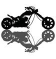 Chopper black silhouette vector image