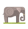 Domesticated Grey Elephant Famous Traditional vector image vector image