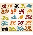 Retro Floral Elements vector image