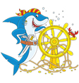 Pirate Shark vector image vector image