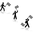 Waving the race flag vector image vector image