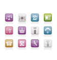 hotel and motel services icons vector image
