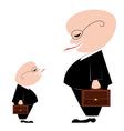 two businessmen vector image vector image