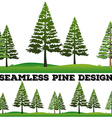 Seamless pine trees on the field vector image