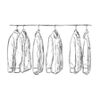 Hand drawn wardrobe sketch Mans shirt vector image