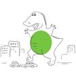 Godzilla vector image vector image