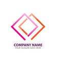 Double Frames Abstract Logo Icon Template vector image