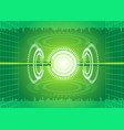abstract digital technology green background vector image