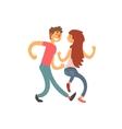 Couple in love dancing cartoon character vector image