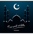 Eid Al Adha Islamic celebration vector image