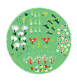 Garden label with funny design for gardening vector image