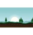 Landscape of spruce tree background vector image