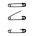 Safety pin isolated vector image