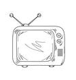 sketch television vector image
