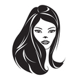 Fashion girl with a new hairstyle vector image vector image