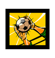 The soccer vector image vector image