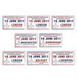 UK passport stamps vector image