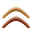 Wooden boomerang vector image