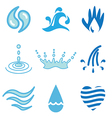 logo icons water vector image vector image